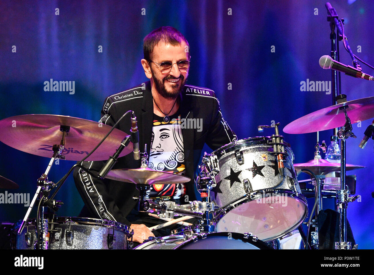 Prague, Czech Republic. 19th June, 2018. British singer Ringo Starr performs during the concert with his All Star Band at the Prague Congress Centre, Czech Republic, on June 19, 2018. Credit: Michal Kamaryt/CTK Photo/Alamy Live News - Stock Image