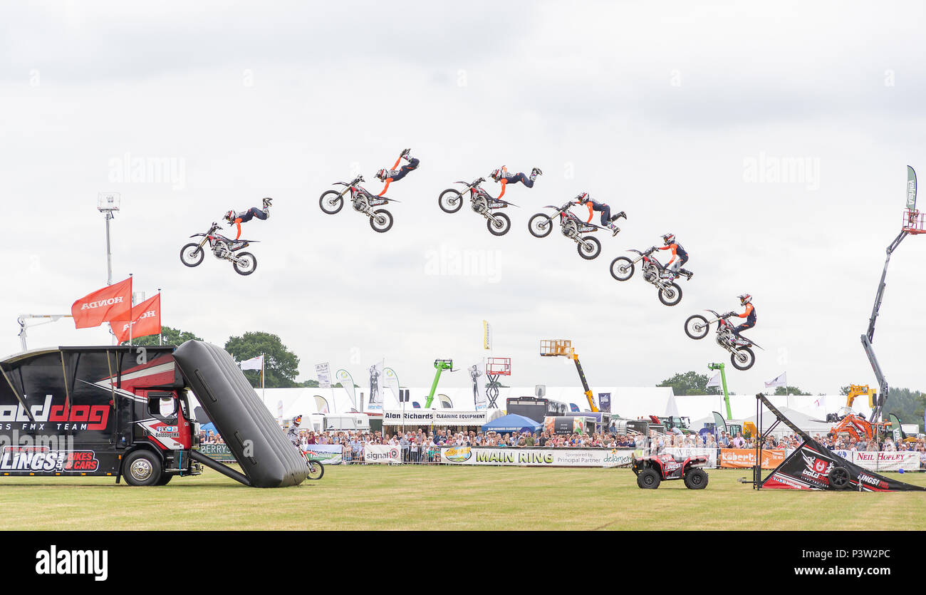 Knutsford, UK. 19th Jun, 2018. Knutsford, UK. 19th Jun, 2018. 19 June 2018 - The Cheshire Showground at Clay House Farm Flittogate Lane, Knutsford hosted the 2018 Royal Cheshire County Show. The Show is about the fabulous sights, characters & flavours of Cheshire & beyond Credit: John Hopkins/Alamy Live News Credit: John Hopkins/Alamy Live News - Stock Image