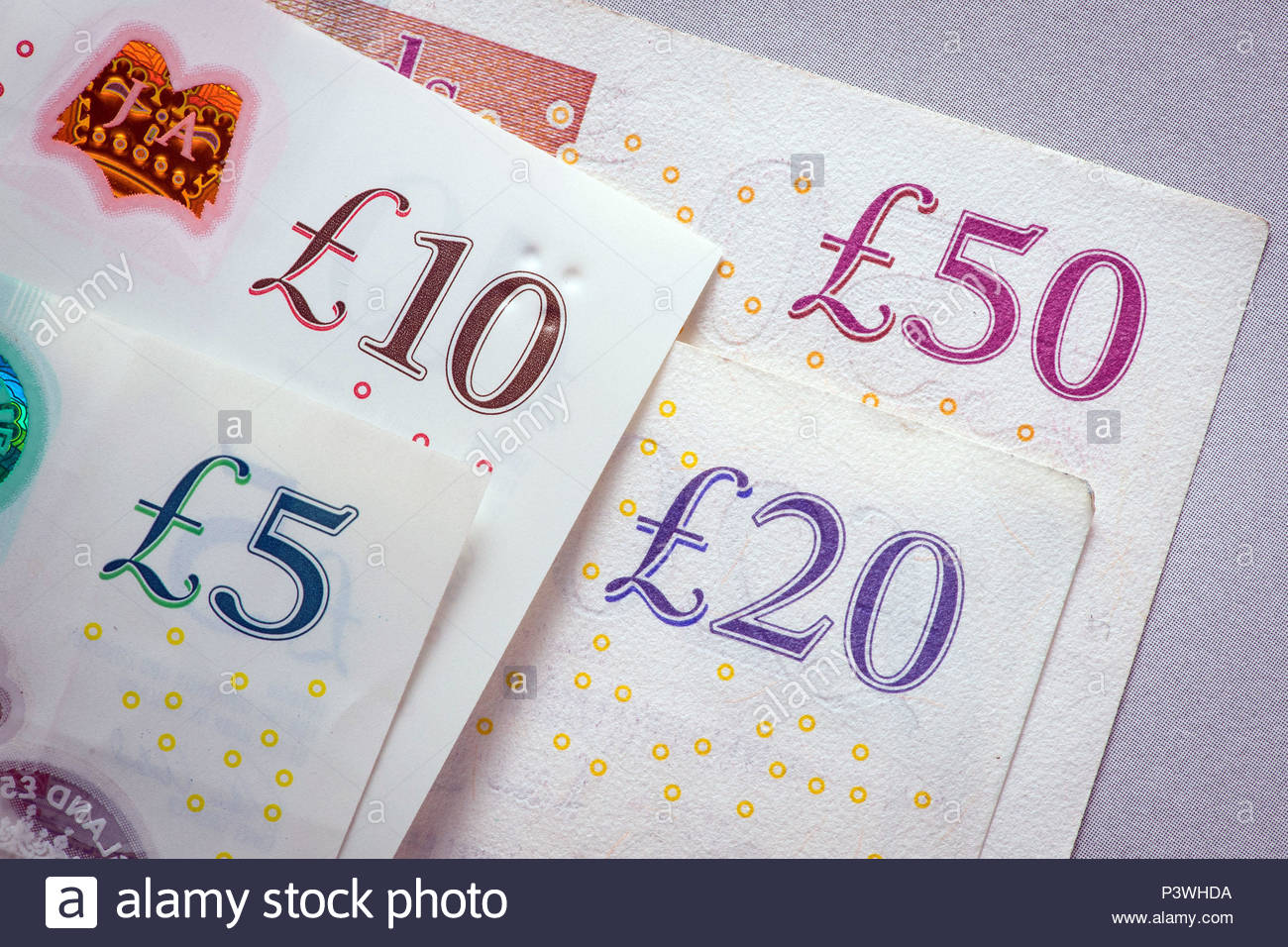 Embargoed to 0001 Wednesday June 20 File photo dated 25/01/18 of money. A large-scale consumer survey from the Financial Conduct Authority (FCA) suggests that people living in the countryside are less likely to be overdrawn or unable to clear their credit card balance each month than those in urban areas - but they may have a tougher struggle accessing banking services. - Stock Image