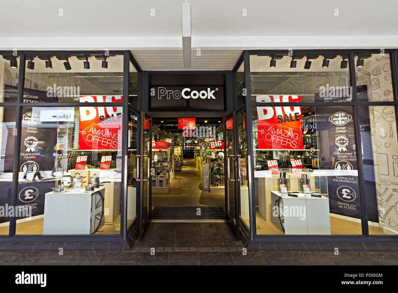 a9f8fdcb05c Shop frontage of the Pro Cook store at the Cheshire Oaks Designer Outlet,  Ellesmere Port