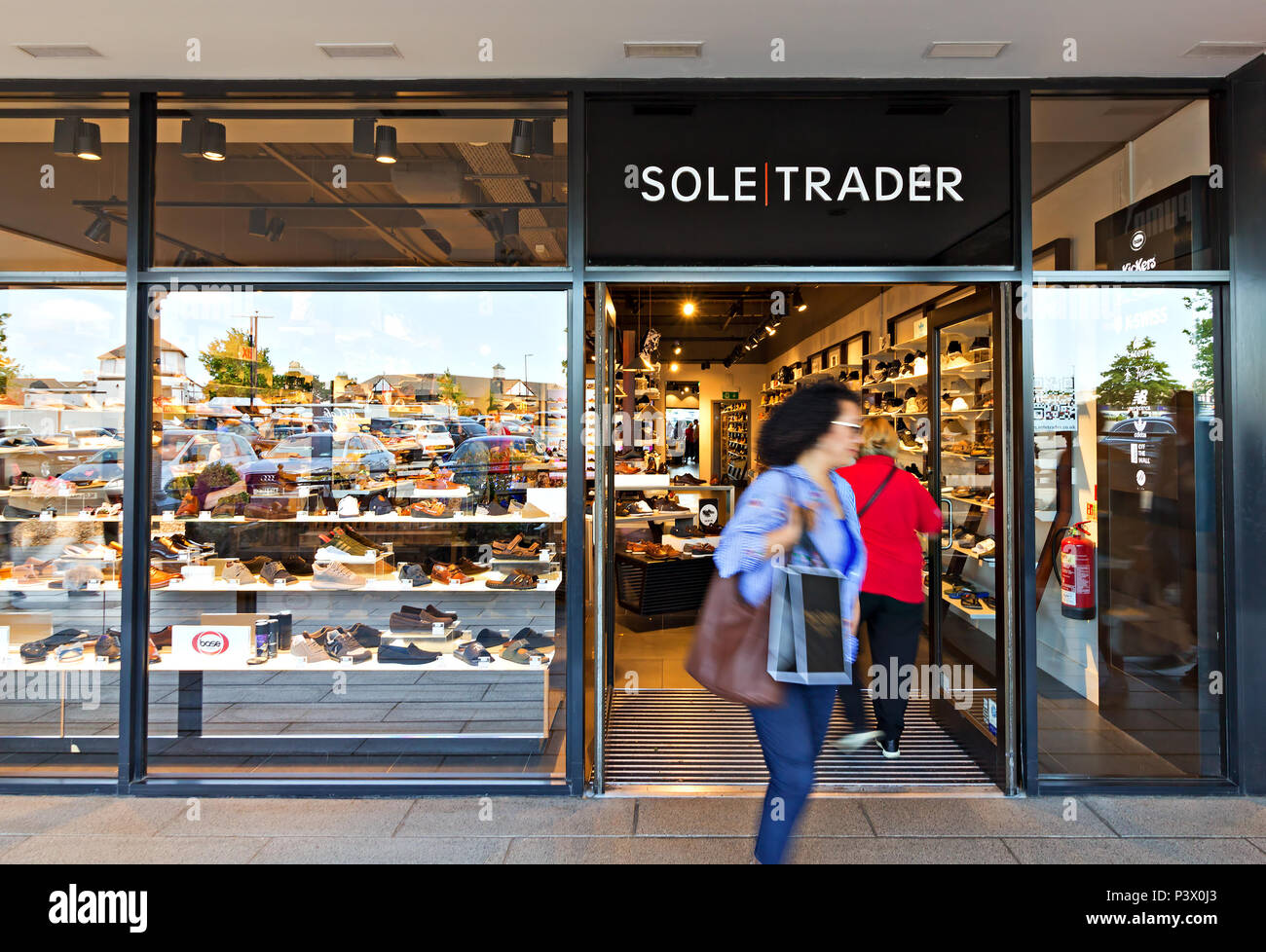 Shop frontage of the Sole Trader store at the Cheshire Oaks Designer Outlet, Ellesmere Port Cheshire. - Stock Image