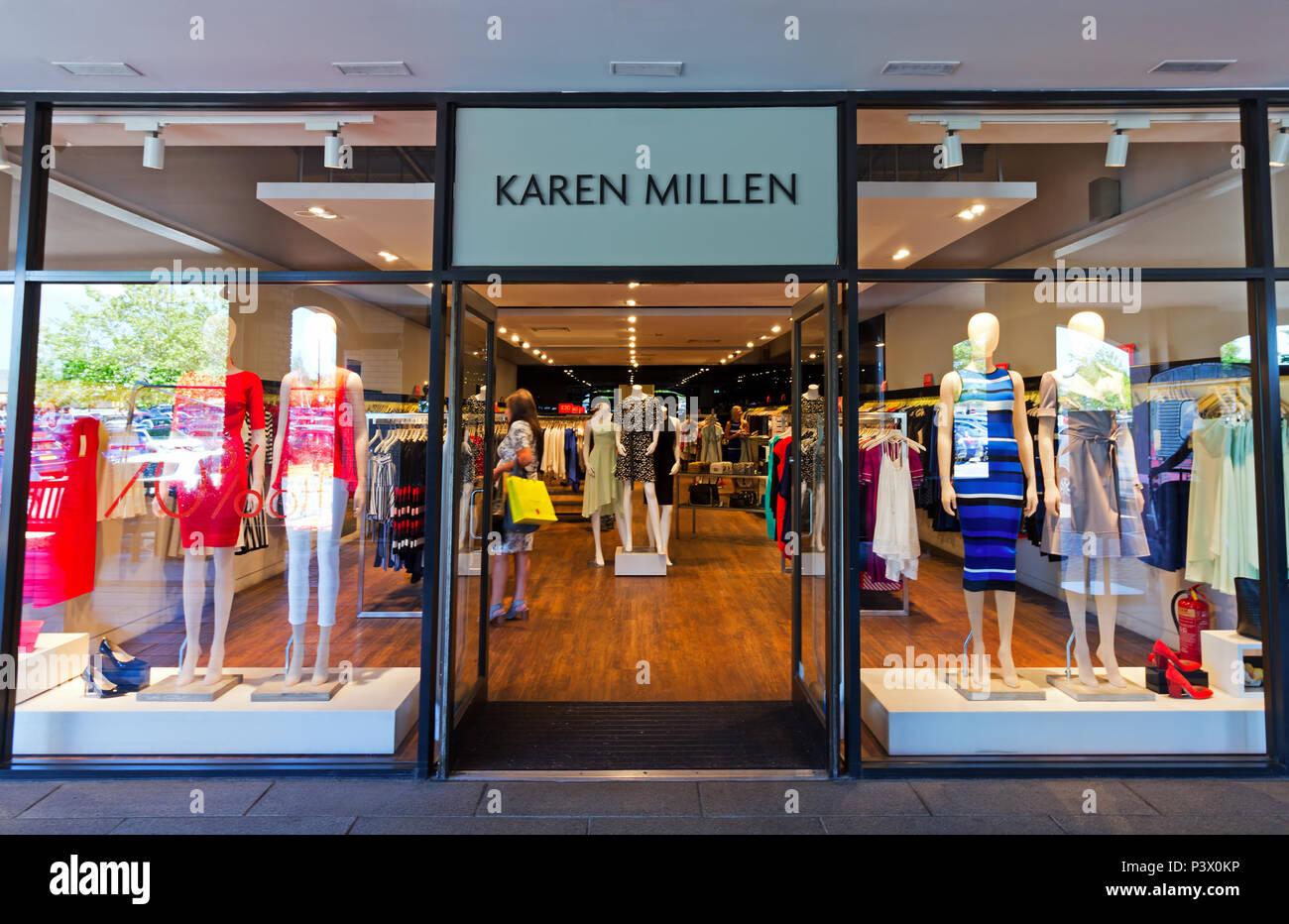 0809fc145d Shop frontage of the Karen Millen store at the Cheshire Oaks Designer  Outlet, Ellesmere Port