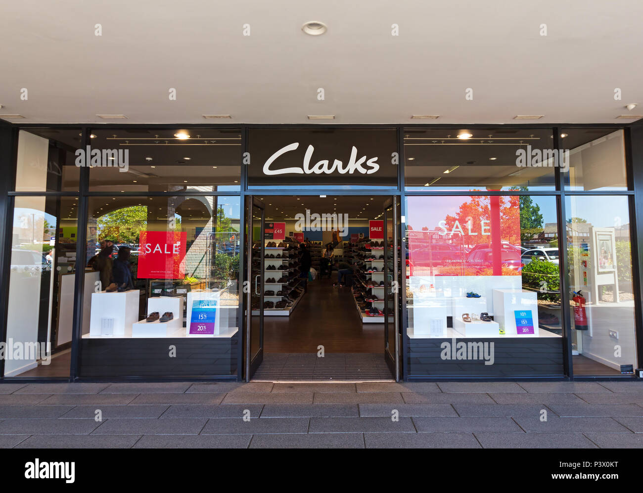 d77638ecbbf Shop frontage of the Clarks store at the Cheshire Oaks Designer Outlet,  Ellesmere Port Cheshire