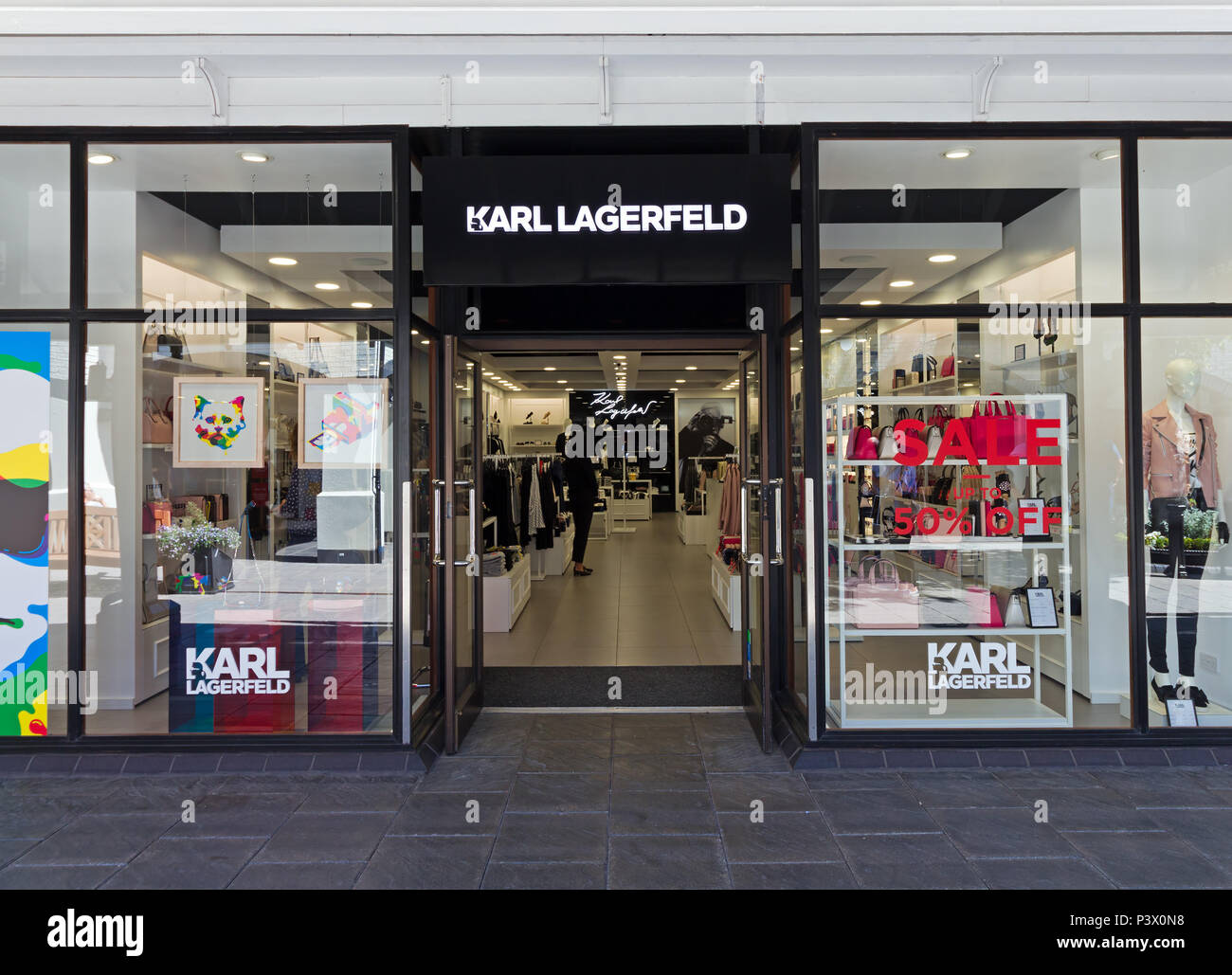 b10baedcce Shop frontage of the Karl Lagerfeld store at the Cheshire Oaks Designer  Outlet