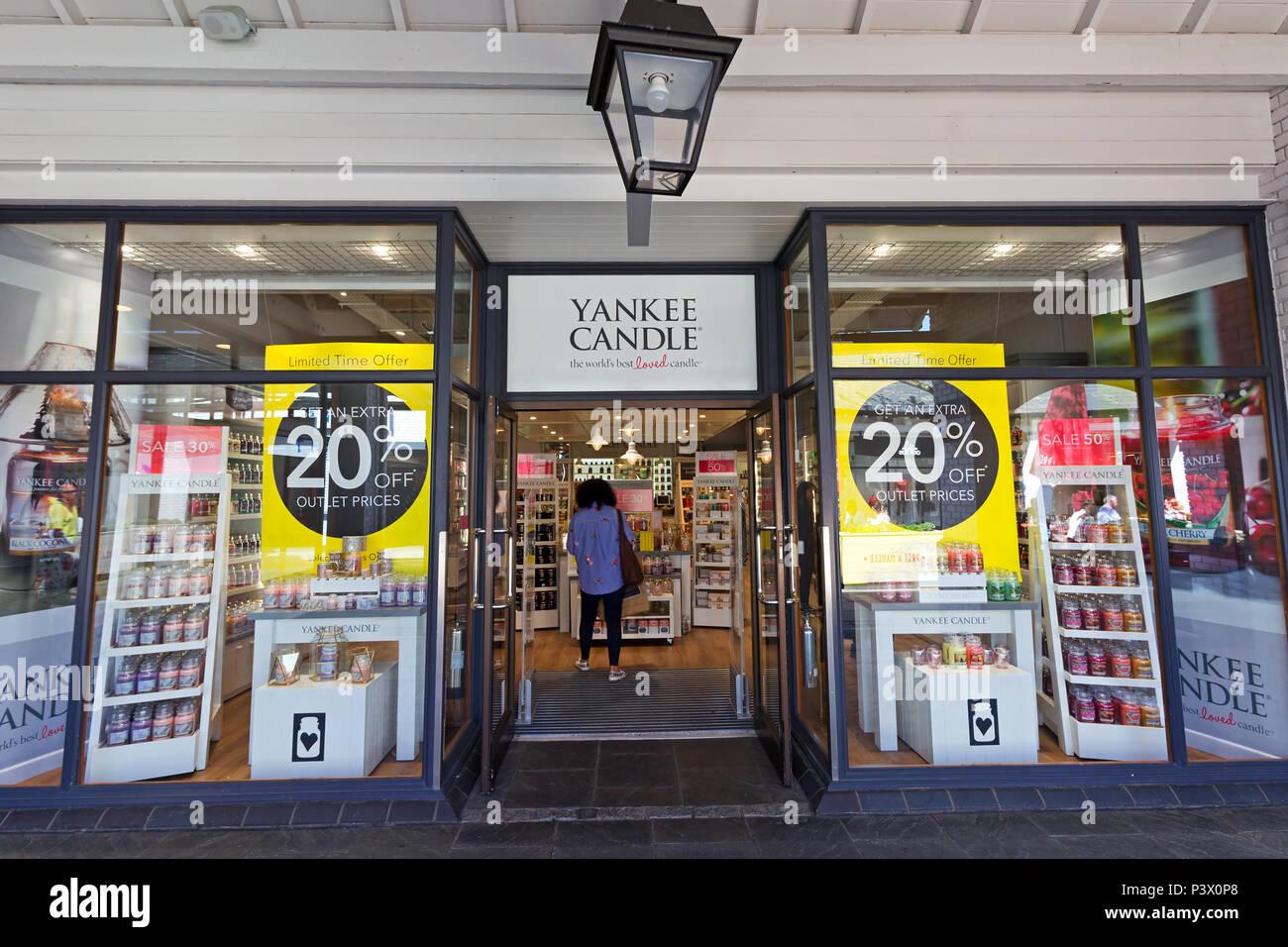 11af4bd8d1c Shop frontage of the Yankee Candle store at the Cheshire Oaks Designer  Outlet, Ellesmere Port