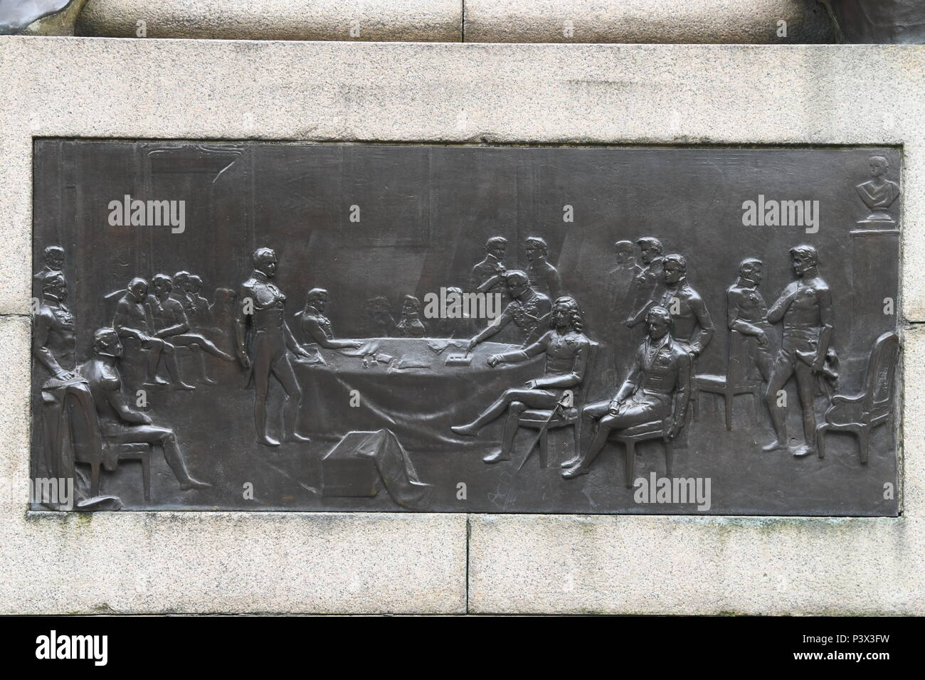Duke of Wellington Memorial in Manchester - Stock Image