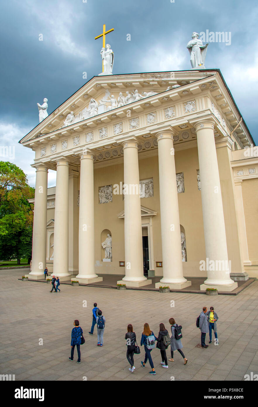 The Cathedral, Vilnius, Lithuania. - Stock Image