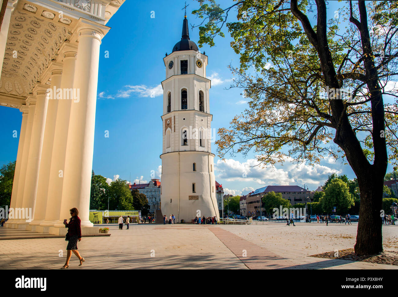 2c5190a191 Bell Tower and Catholic Cathedral, Vilnius, Lithuania in summer ...