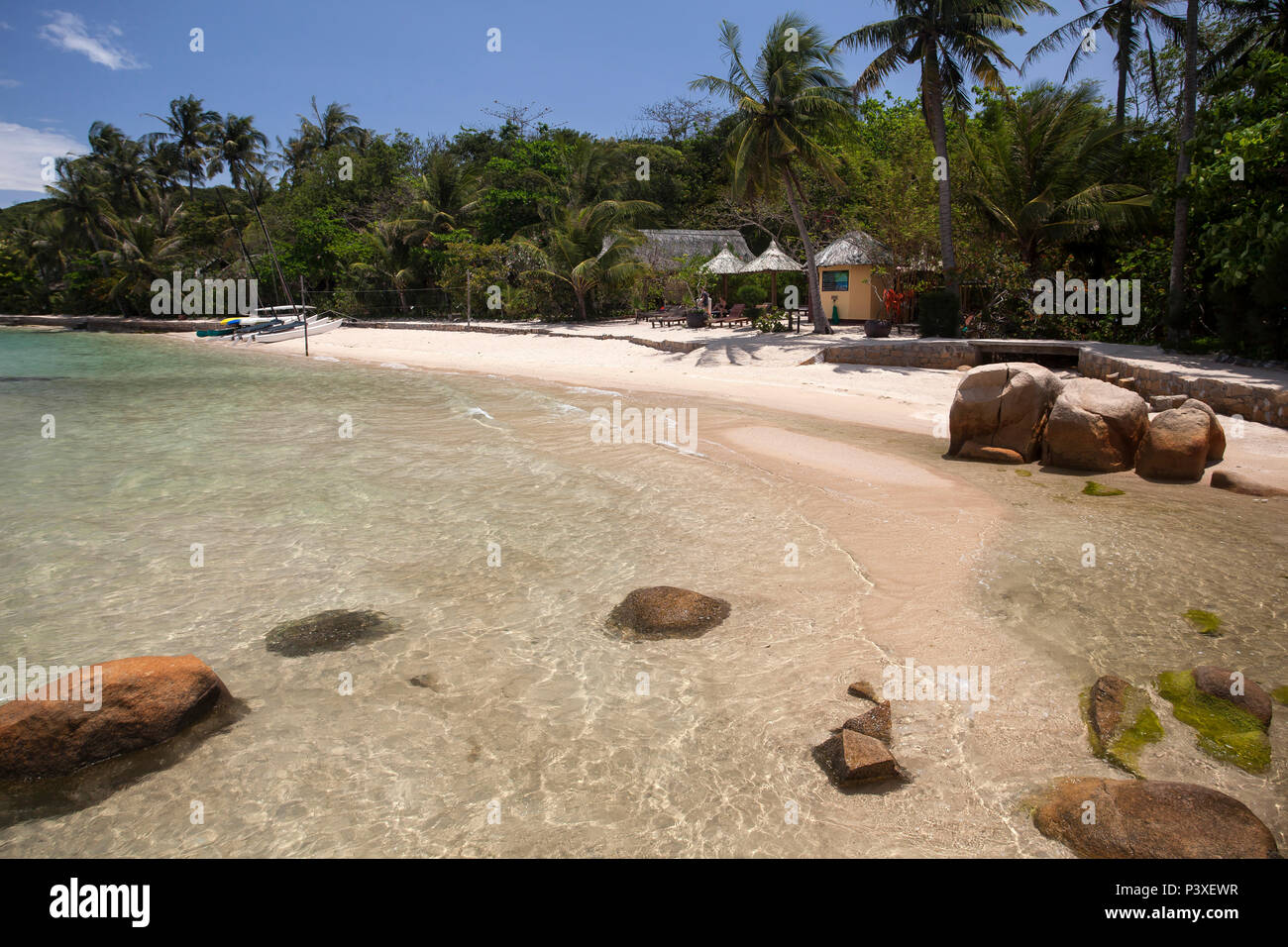 Insel Hong Ong, Whale island,Bucht von Nha Trang,Vietnam, Asien - Stock Image