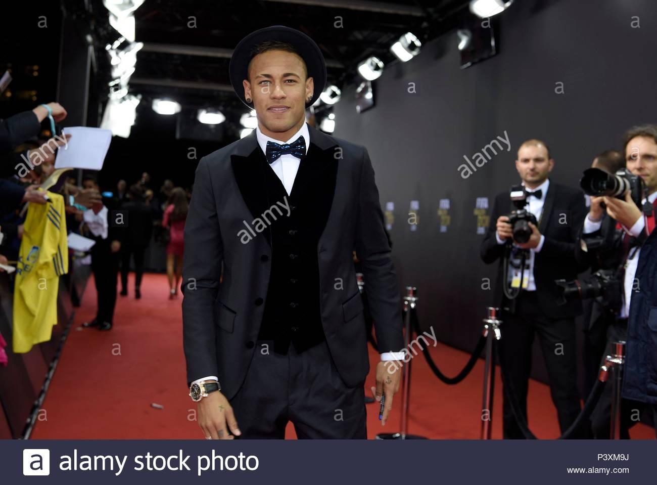 Neymar. FIFA Ballon d'Or Gala 2015 at the Kongresshaus in Zurich.  BALLON DOR 2015 - Stock Image