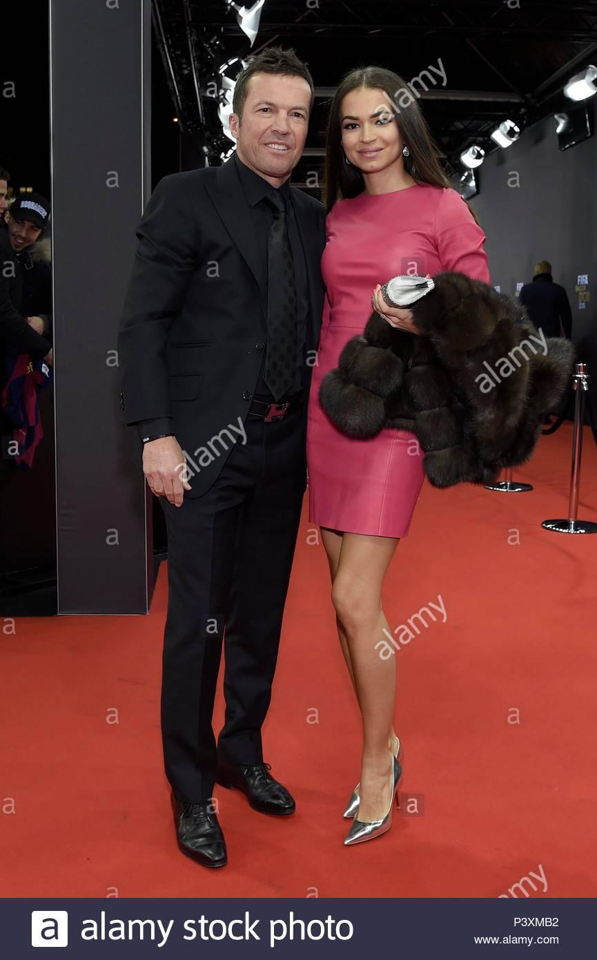 Lothar Matthaeus and Anastasia Klimko. FIFA Ballon d'Or Gala 2015 at the Kongresshaus in Zurich.  BALLON DOR 2015 - Stock Image