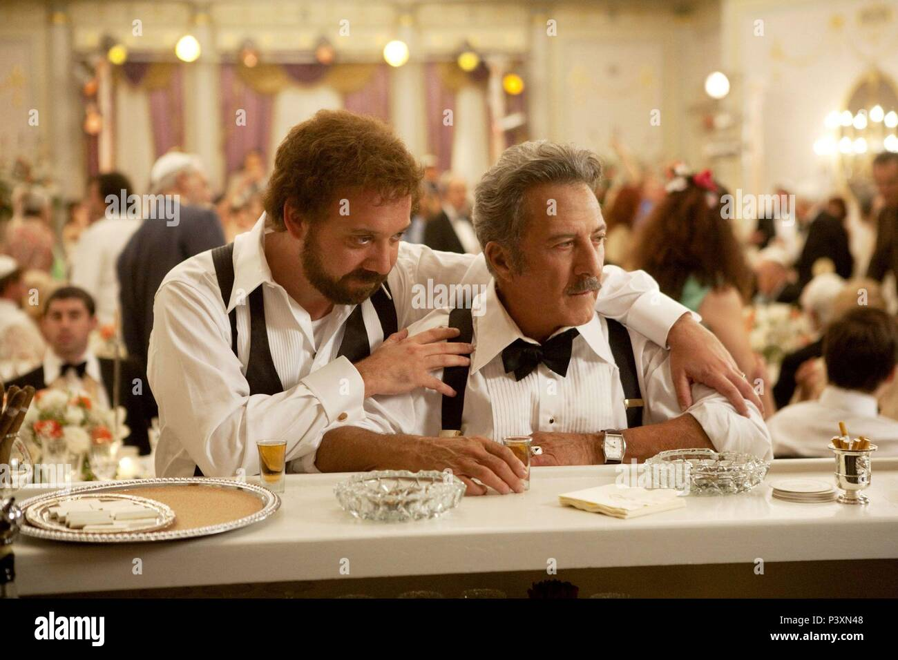 Original Film Title: BARNEY'S VERSION.  English Title: BARNEY'S VERSION.  Film Director: RICHARD J. LEWIS.  Year: 2010.  Stars: DUSTIN HOFFMAN; PAUL GIAMATTI. Credit: SERENDIPITY POINT FILMS / Album - Stock Image