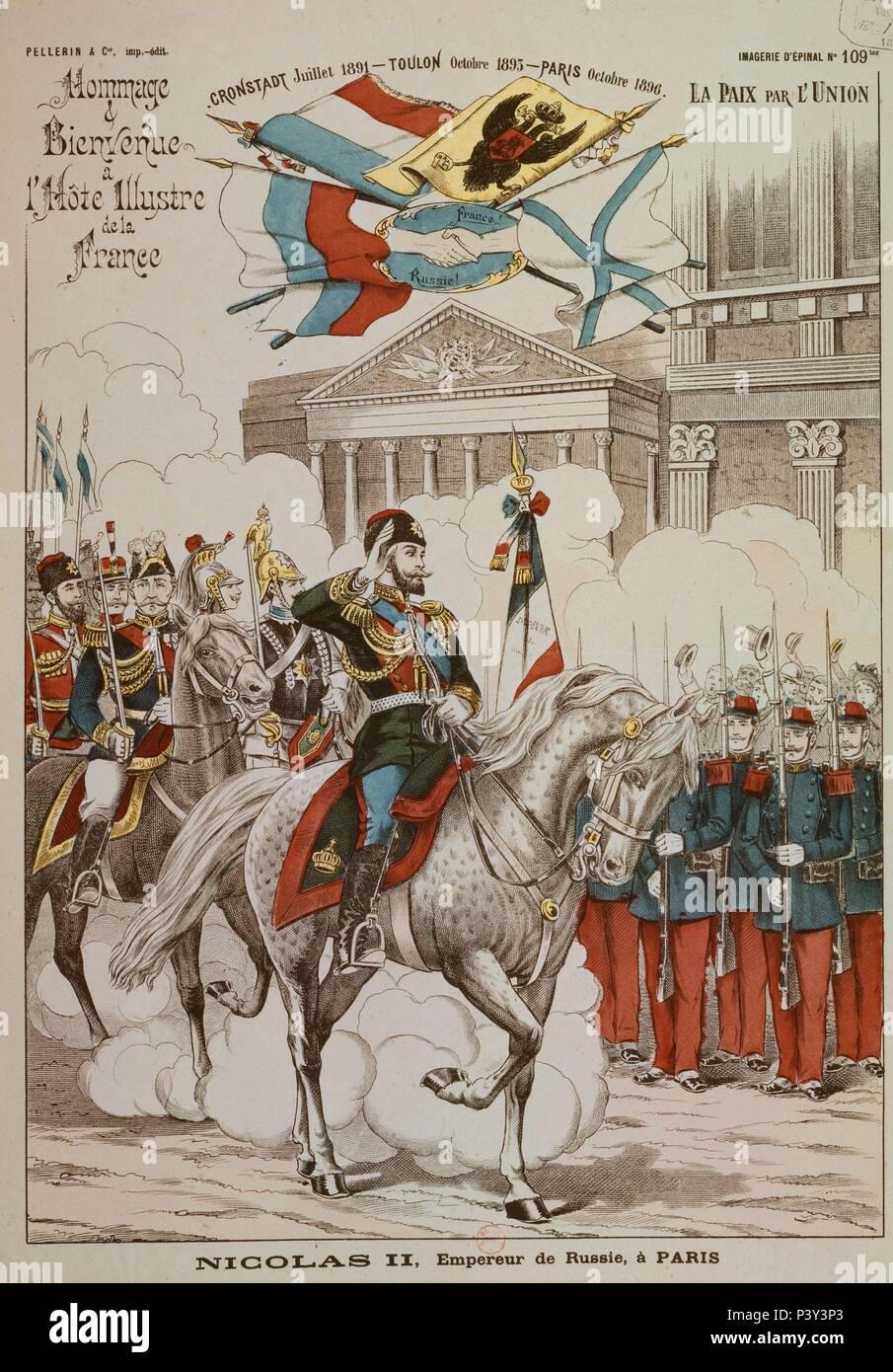 NICOLAS II EMPERADOR DE RUSIA EN PARIS OCTUBRE DE 1896 - GRABADO SIGLO XIX.  Location  NATIONAL LIBRARY. 00a1d0dfe6f