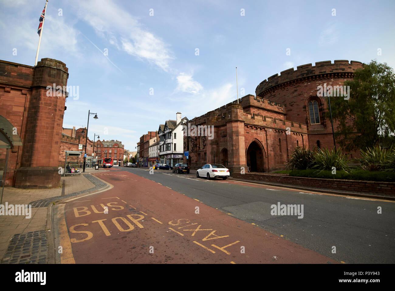 Nisi prius courthouse the citadel east tower Carlisle Cumbria England UK - Stock Image