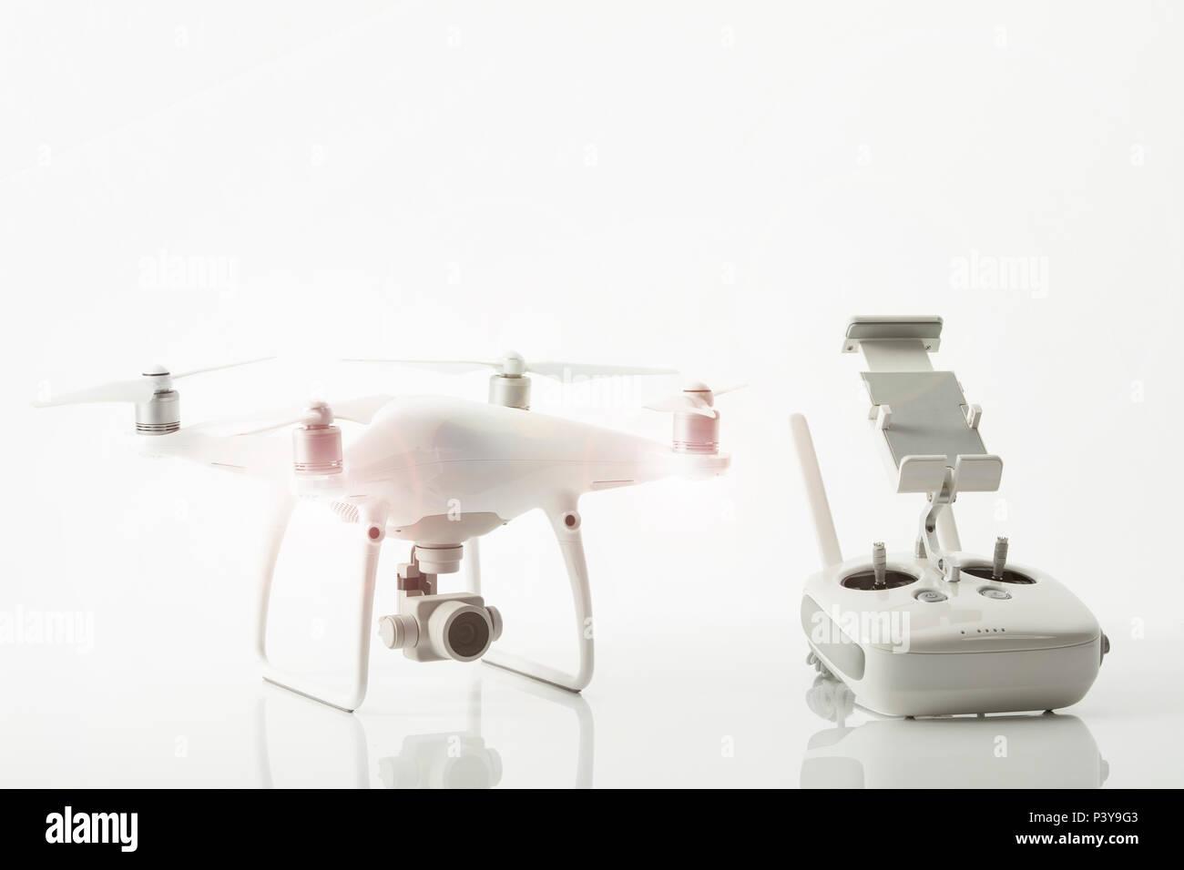 Drohne, Quadrocopter - Stock Image