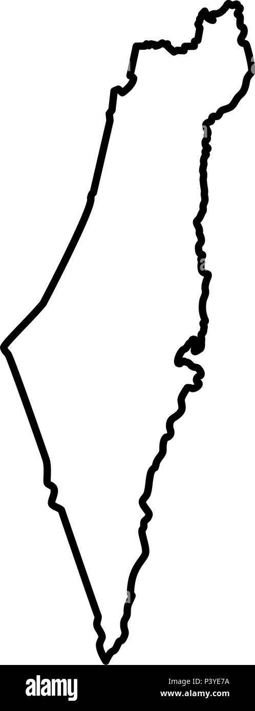 Map of Israel icon black color vector I flat style simple image - Stock Vector