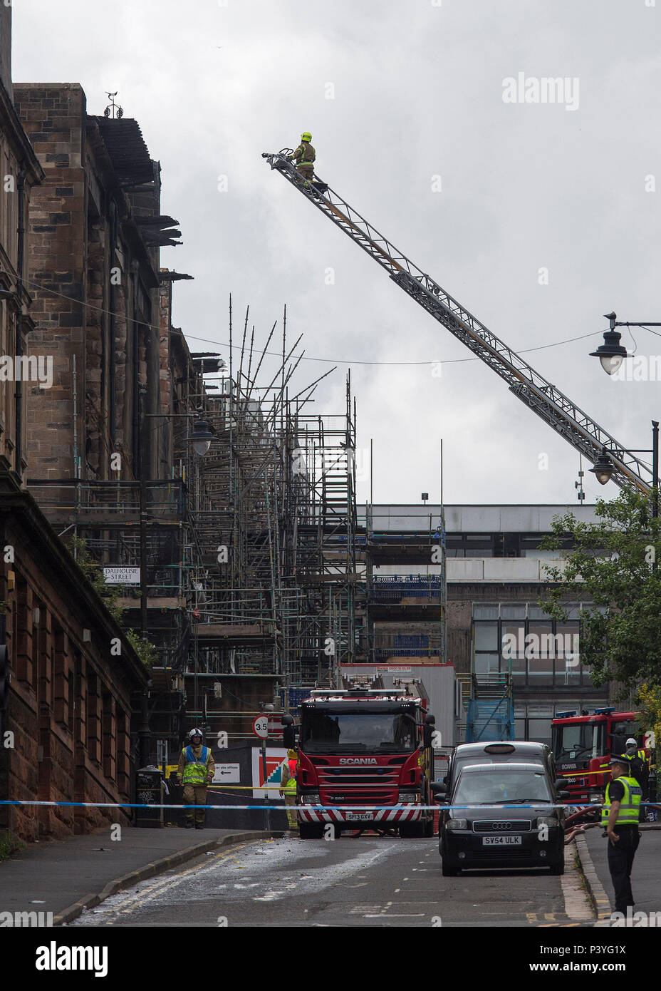 Fire investigators have promised they will find out what caused the blaze which gutted the Glasgow School of Art.  Assistant Chief Officer David McGow Stock Photo