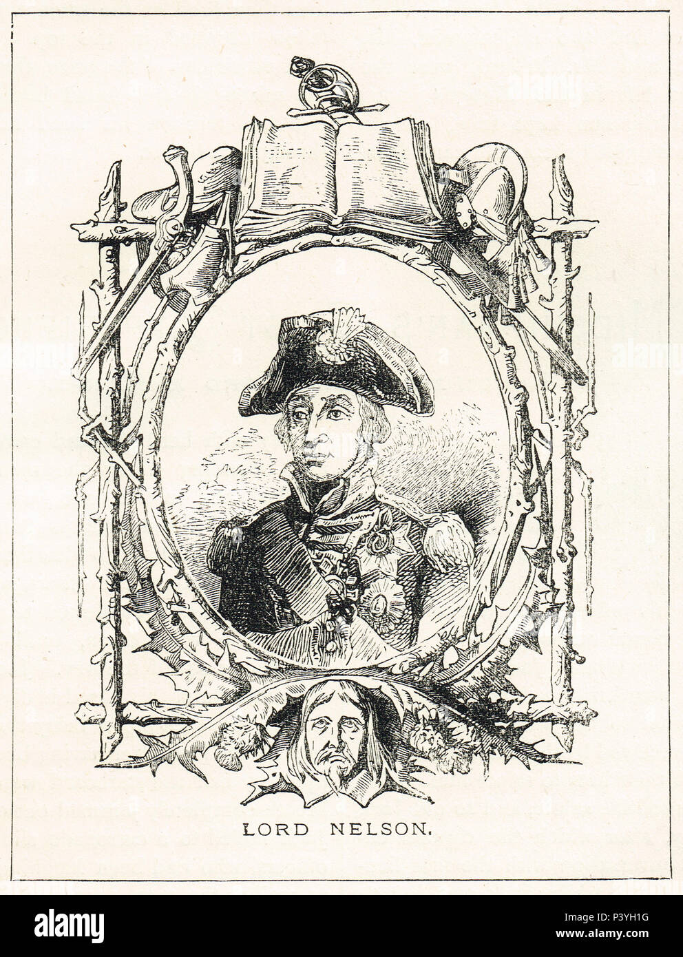 Vice Admiral Horatio Nelson (1758-1805) - Stock Image
