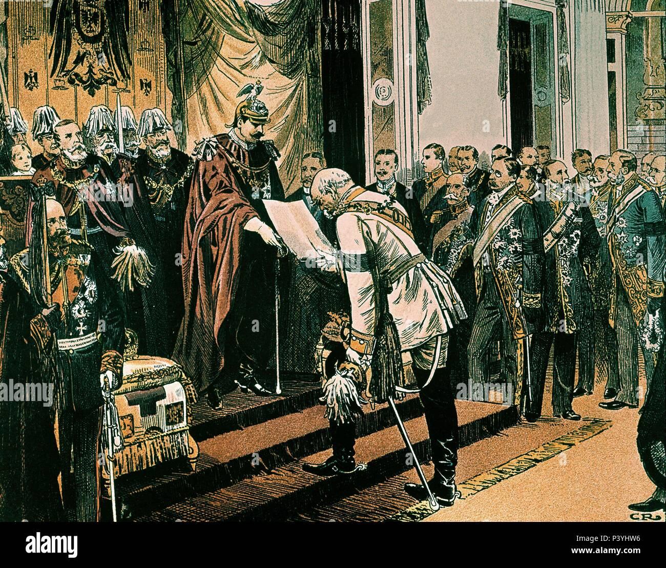 *GUILLERMO II DE PRUSIA Y BISMARCK. - Stock Image