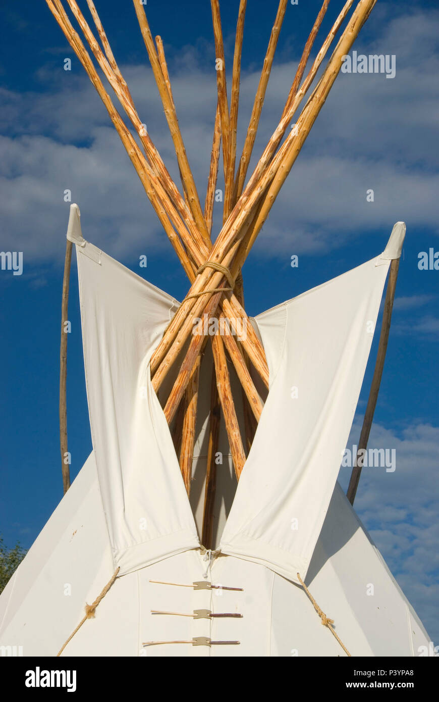 Tepee, Grant-Kohrs Ranch National Historic Site, Montana Stock Photo