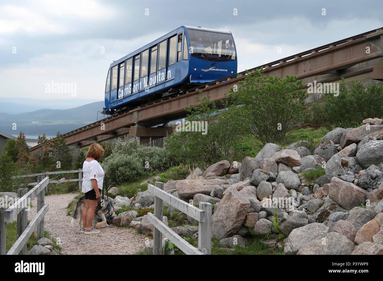 Cairngorm Funicular Railway - Stock Image