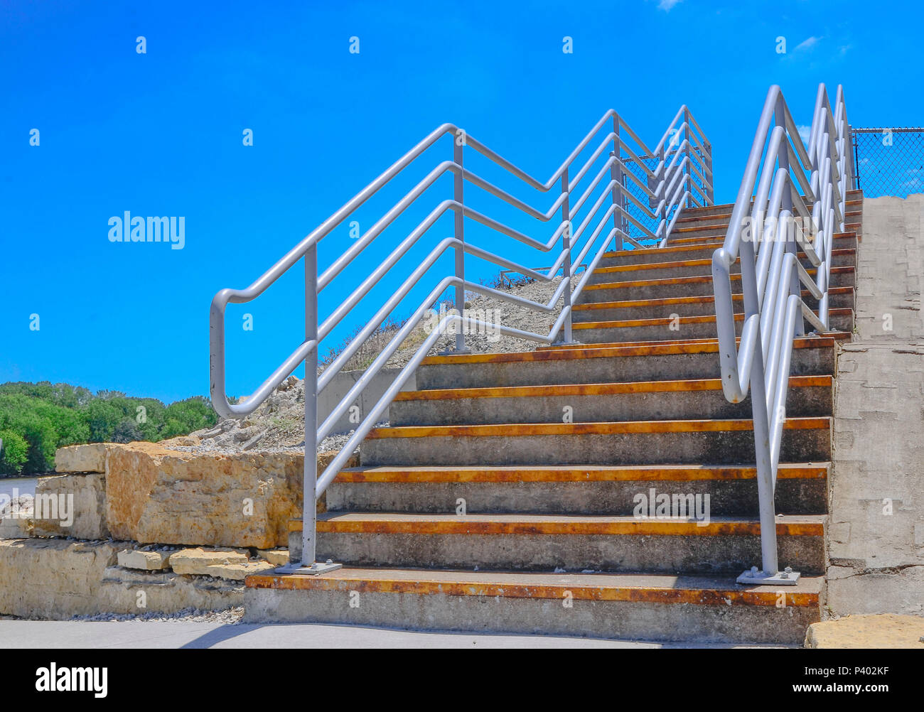 Stairway to no where - Stock Image