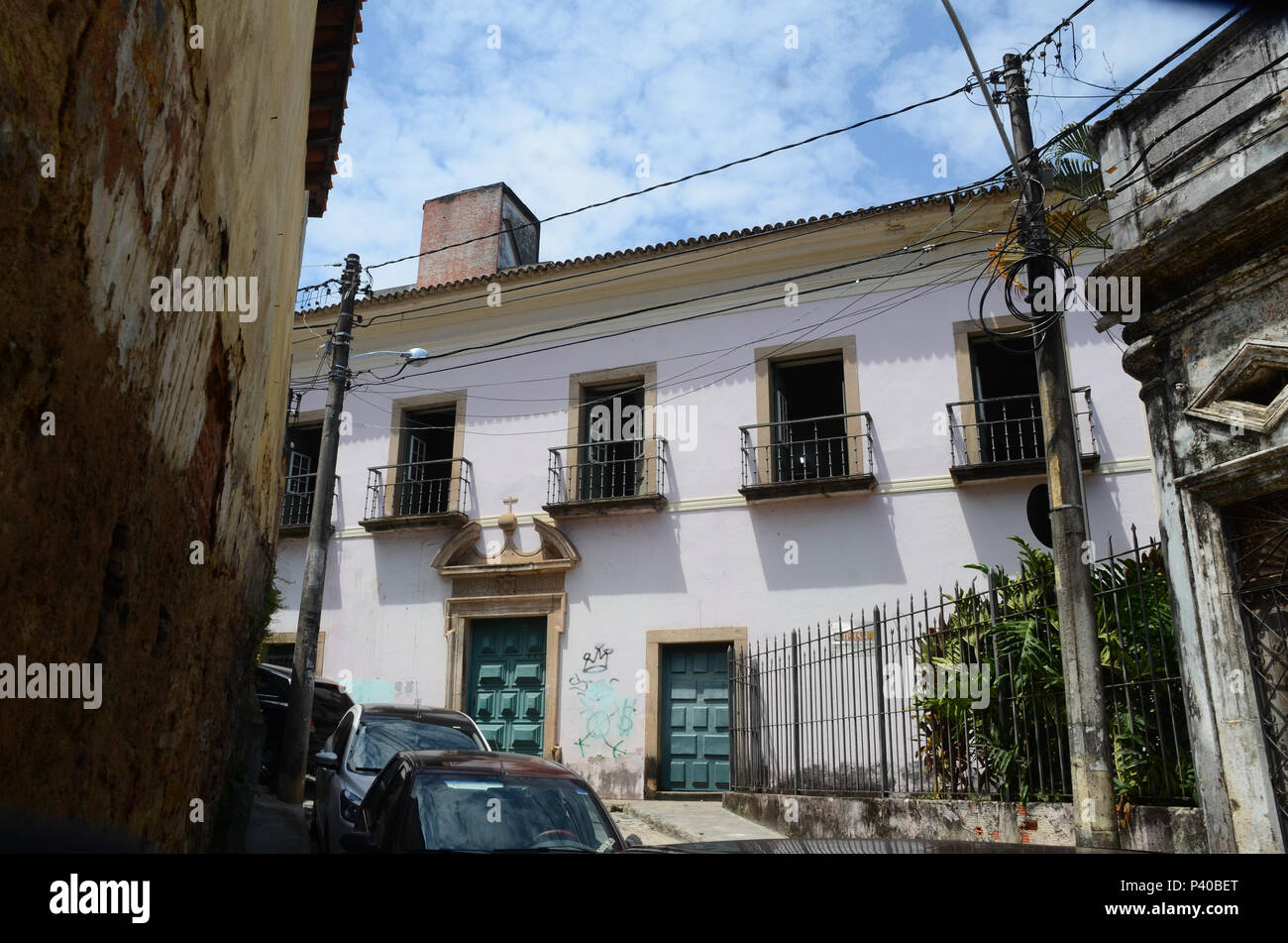 Fachada do IPHAN (Instituto do Patrimonio Histórico e Artistico Nacional), de Salvador. - Stock Image