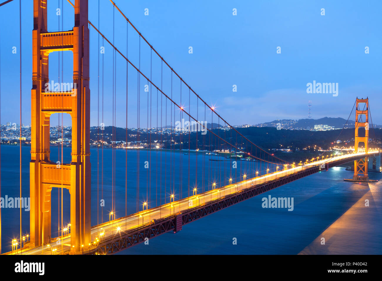 The Golden Gate Bridge, San Francisco, California, USA - Stock Image