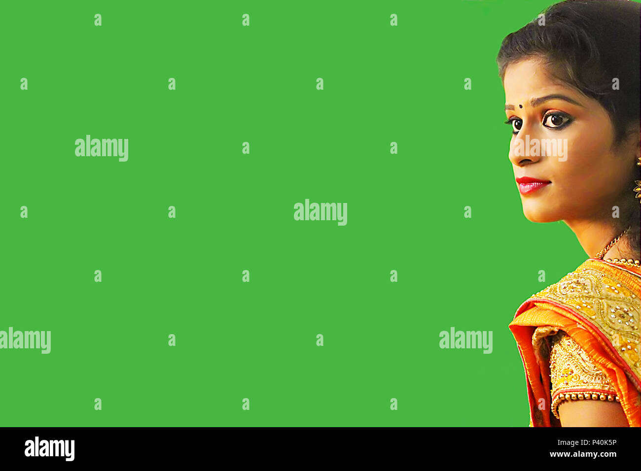 Green Sari Stock Photos & Green Sari Stock Images - Alamy
