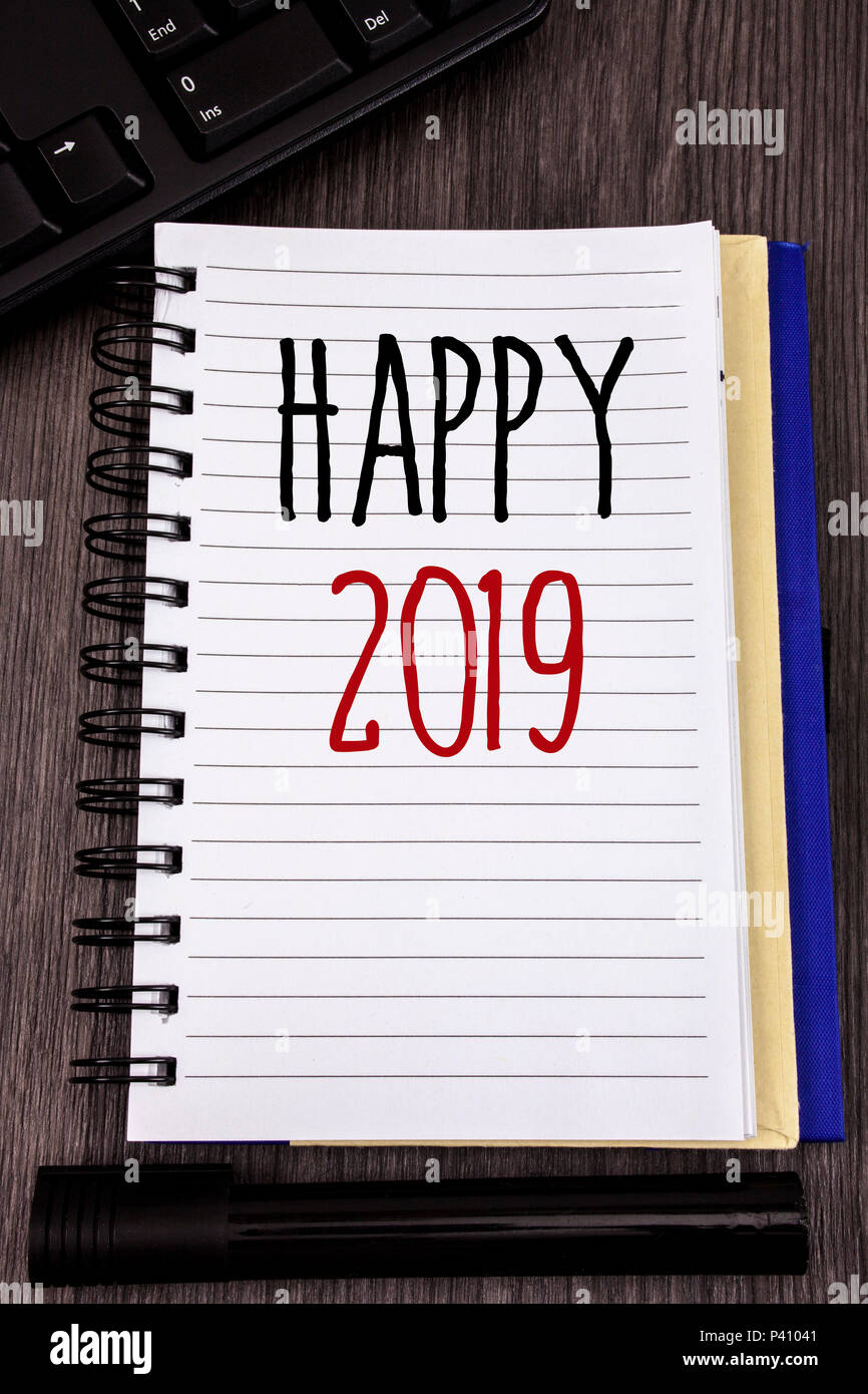 Conceptual hand writing showing Happy 2019. Business photo ...