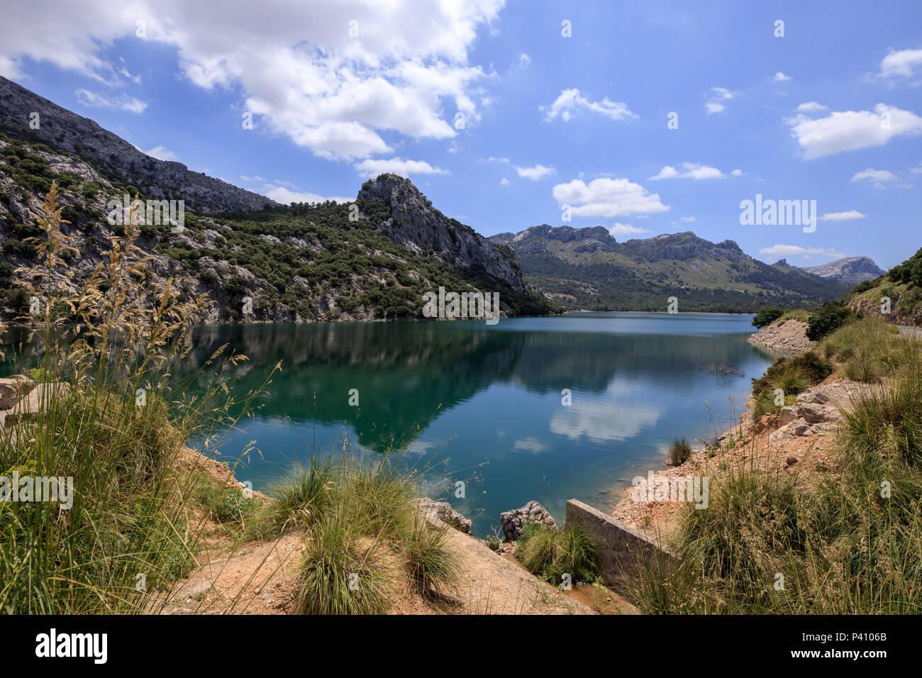 Gorg Blau, artifical lake, water reserve supply Majorca Spain Stock Photo