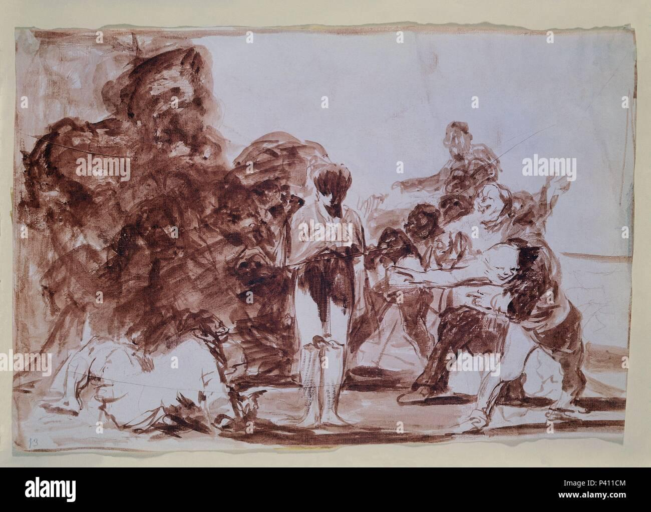Los Disparates O Los Proverbios 1815 1823 Dibujo Preparatorio