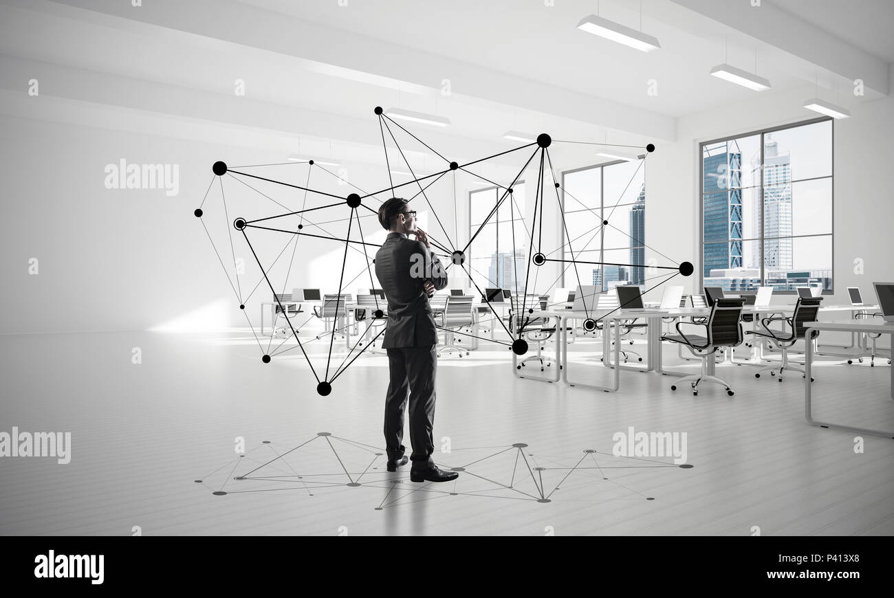 Networking and social communication concept as effective point f - Stock Image