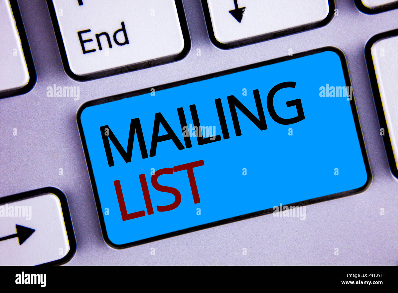text sign showing mailing list conceptual photo names and addresses