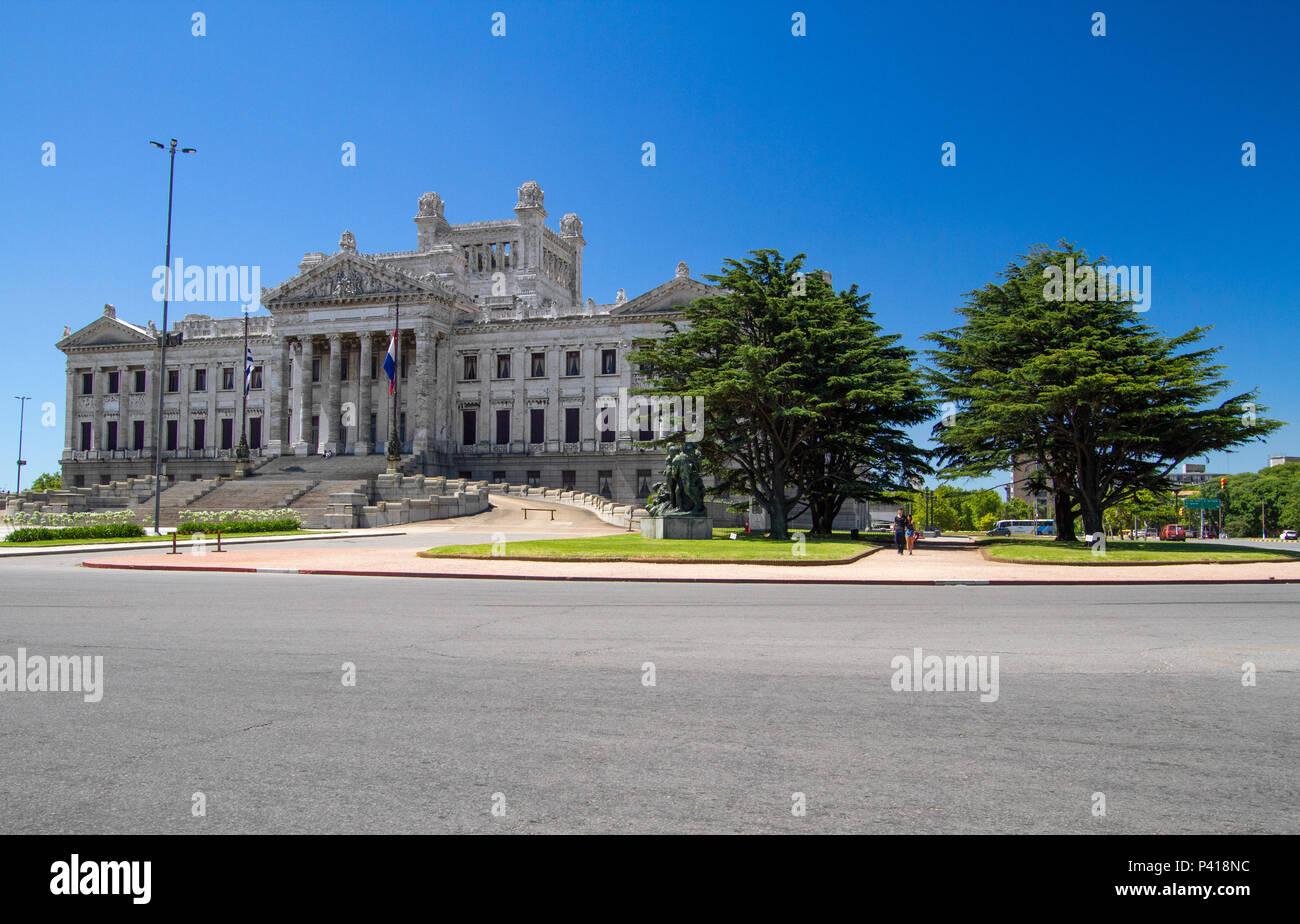 Montevidéu - Uruguai Assembleia Legislativa Assembleia Legislativa de Montevidéu Palácio Legislativo Política Orgão Público Montevidéu Uruguai América do Sul - Stock Image