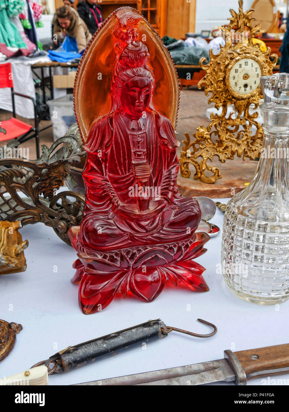 Items for sale on the Sunday Flea Market in Fuengirola on