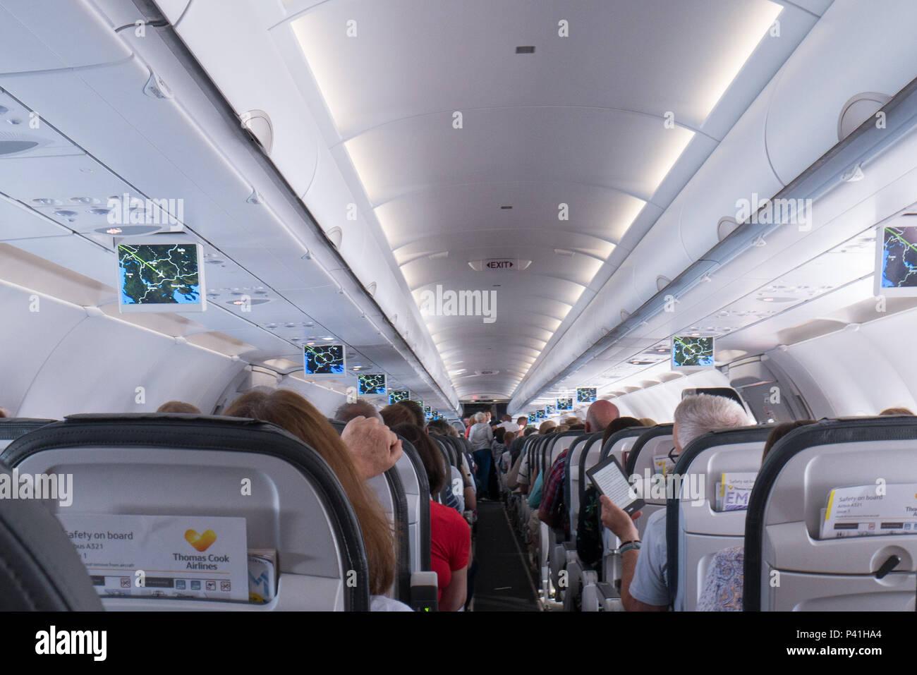 Airbus A321 Interior Stock Photo 209018604 Alamy