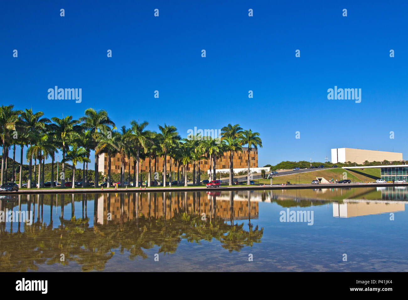 Brasília - DF Brasília Cidade de Brasília Lago do Congresso Nacional Distrito Federal Brasil Centro Oeste - Stock Image