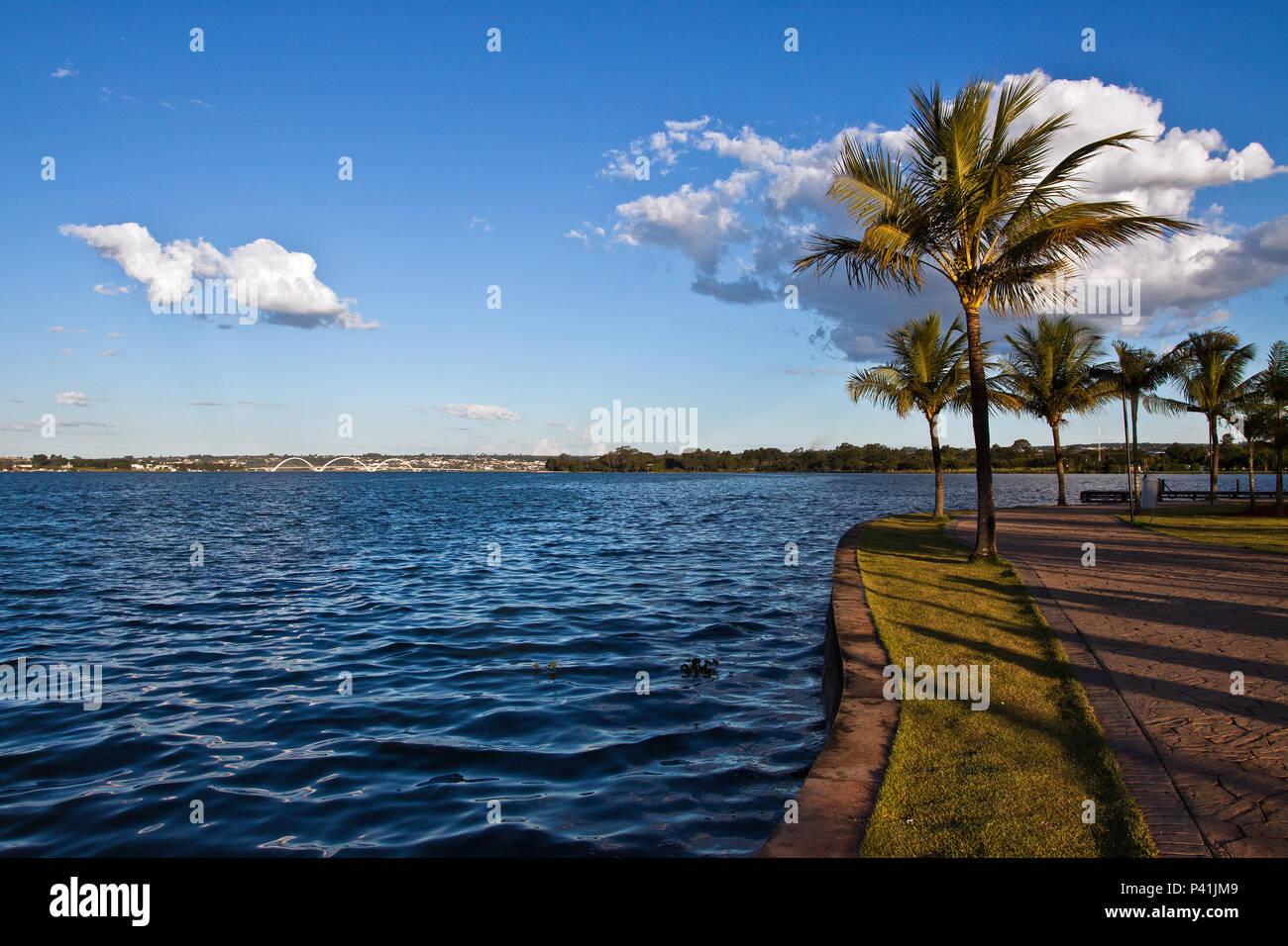 Brasília - DF lago Lago Paranoá lago artificial de Brasília Brasília Centro Oeste Brasil Distrito Federal - Stock Image