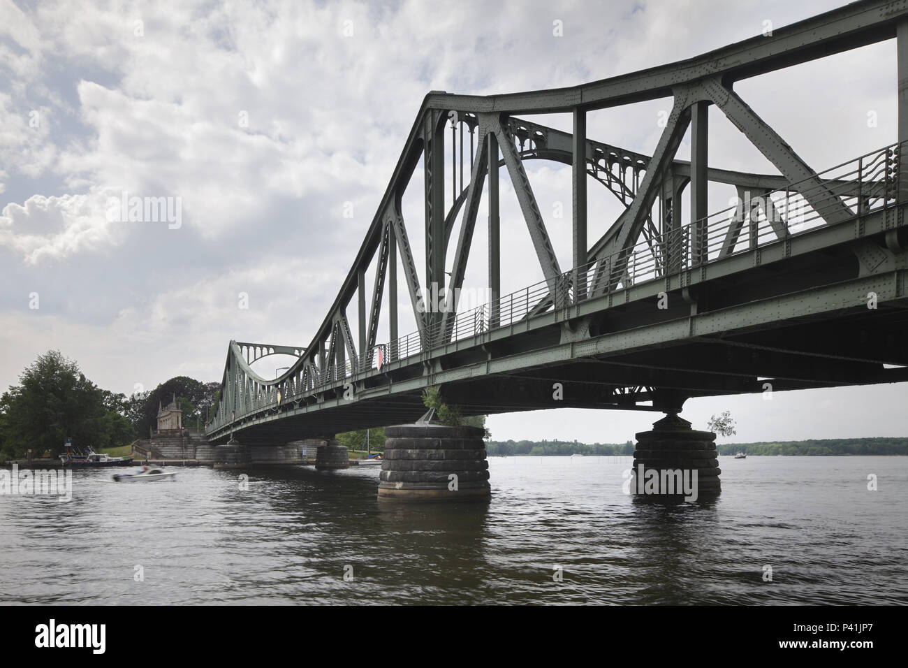 Berlin, Germany, Glienicker Bruecke in Berlin Wannsee - Stock Image