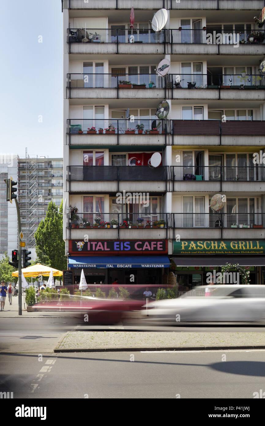 Berlin, Germany, Social Palace on Potsdamer Strasse on the corner of Pallasstrasse in Berlin-Schoeneberg Stock Photo