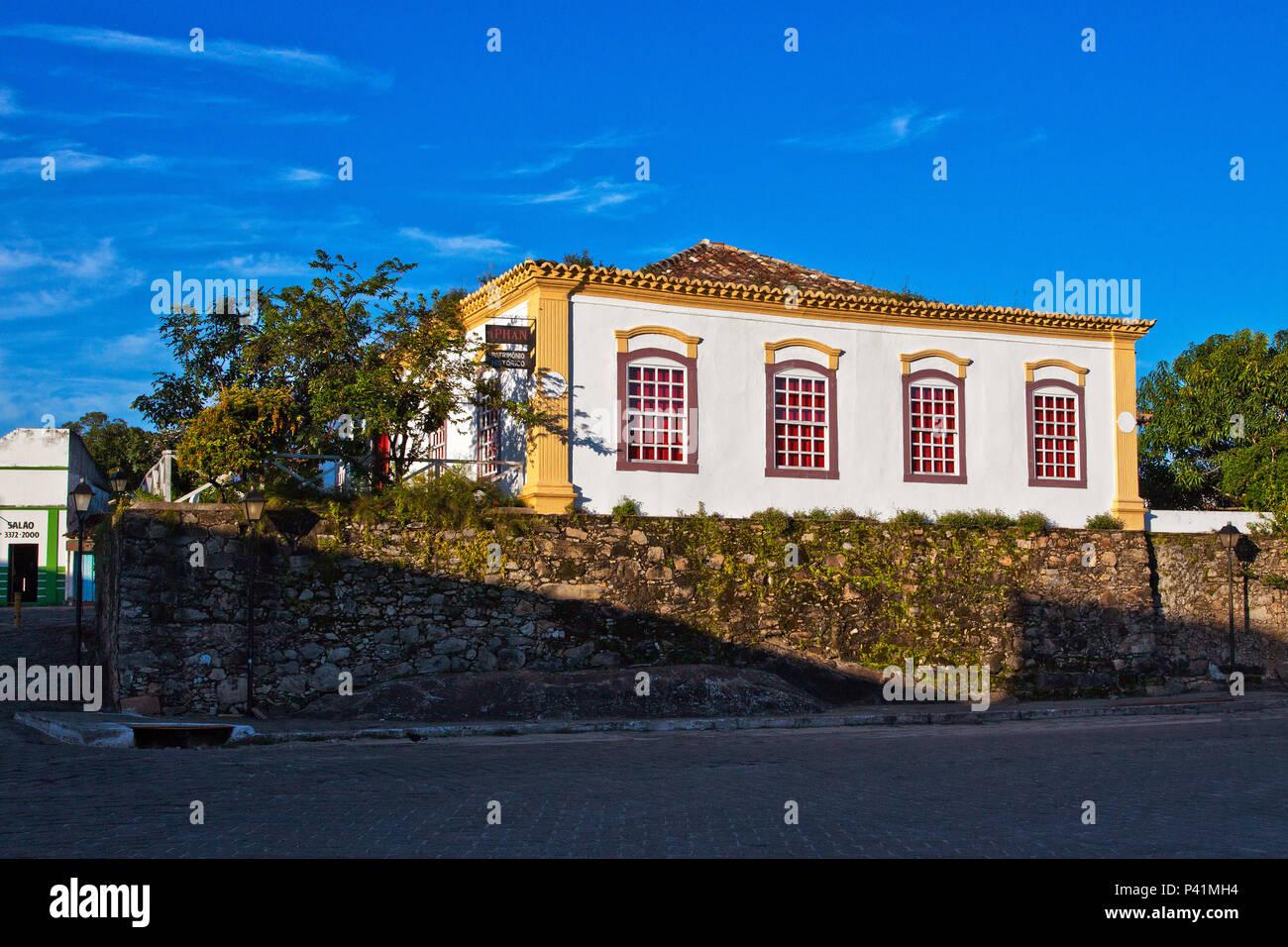 Goias-GO IPHAN Patrimônio Histórico Goiás Goiás Velho cidade histórica Centro Oeste Brasil - Stock Image