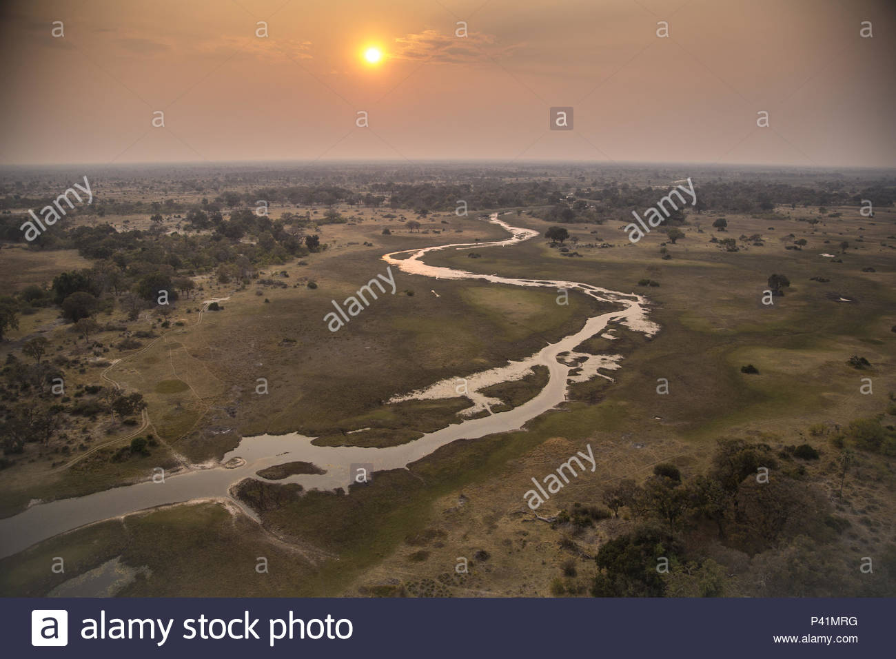 The Xigera concession area of Botswana's Okavango Delta. - Stock Image