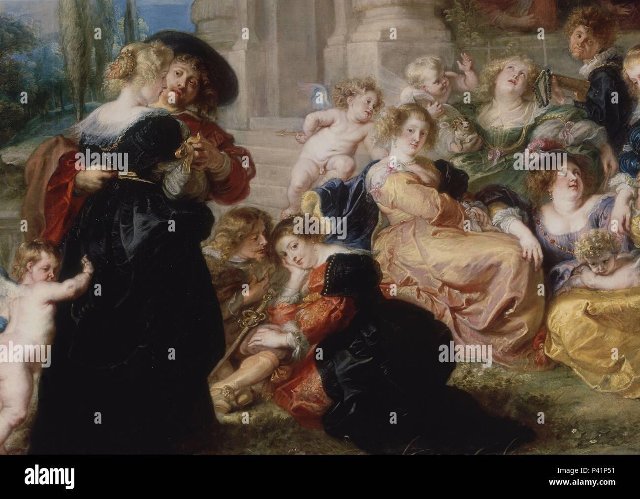 The Garden of Love\' (detail), 1633-1634, Flemish Baroque, Oil on ...