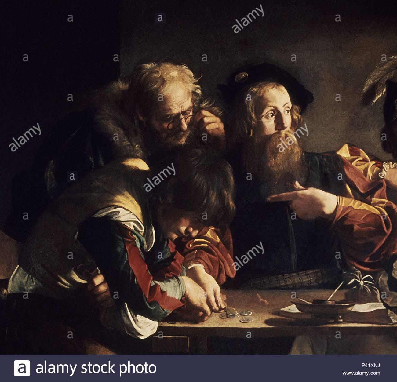LA VOCACION DE SAN MATEO - DETALLE DEL SANTO - 1599-1600 - OLEO/
