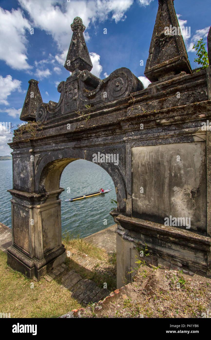 São Francisco do Paraguaçu - Cachoeira - Bahia  Convento de Santo Antonio Ruinas do Convento Santo Antonio contruido entre 1658 e 1662 tombado pelo IPHAN São Francisco do Paraguaçu Cachoeira Bahia Nordeste Brasil - Stock Image
