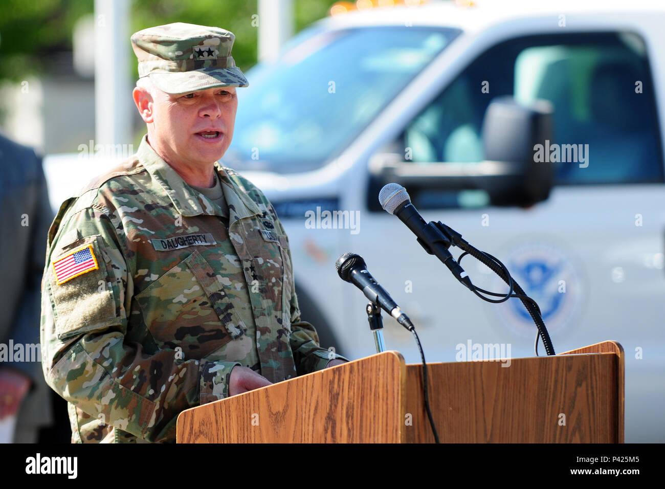 Brig  Gen  Bret Daugherty, the commander of the Washington National