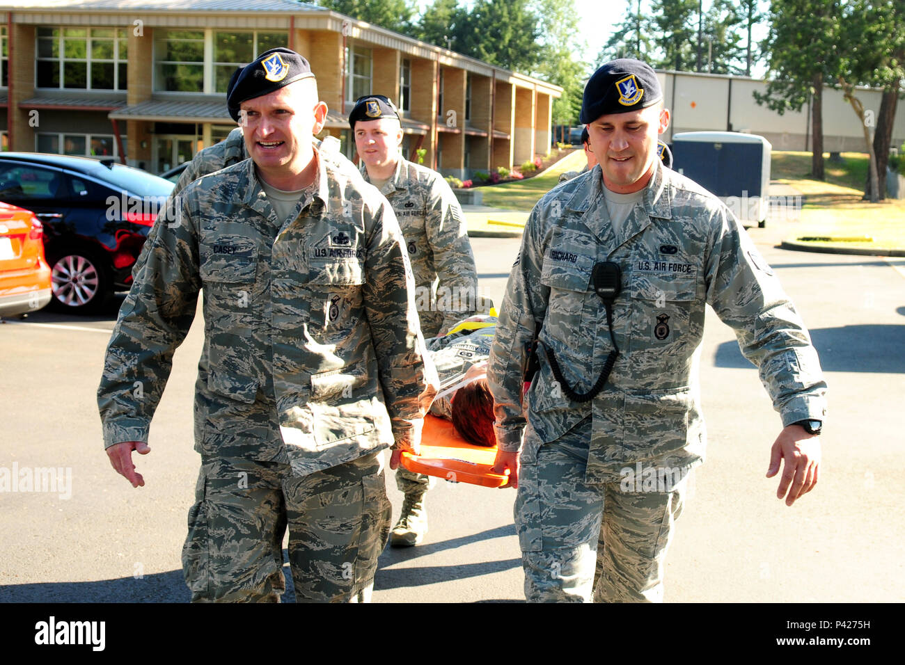 Master Sergeant Zachary Casey (left) and Staff Sergeant Casey