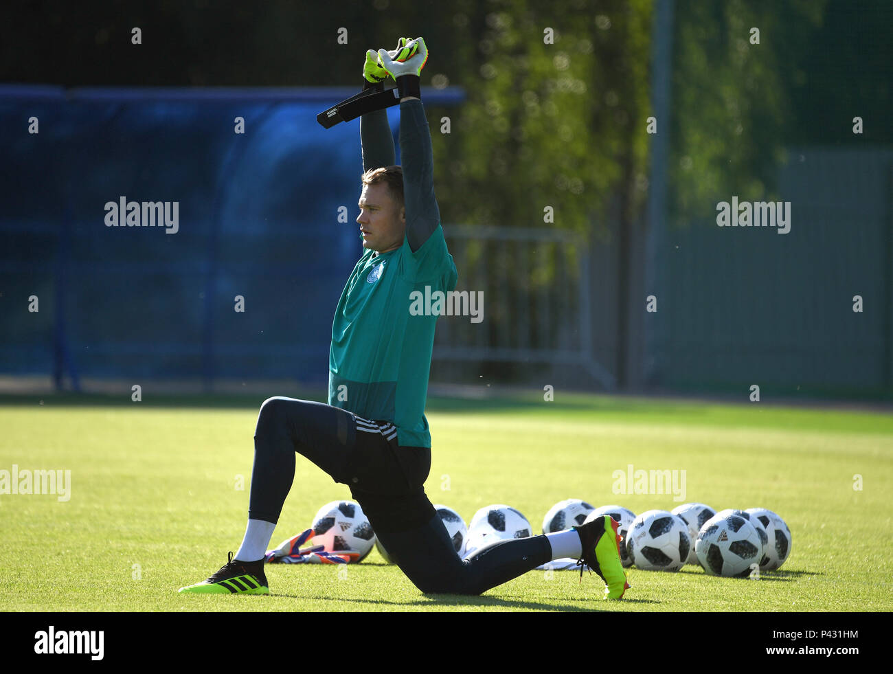 Vatutinki, Russia. 16th June, 2018. Soccer, World Cup, German team, final training. Goalkeeper Manuel Neuer. Credit: Ina Fassbender/dpa/Alamy Live News - Stock Image
