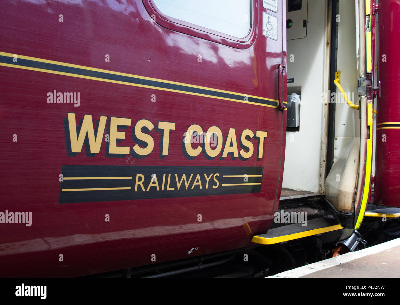 Oxenholme, Lake District, UK. 20th June, 2018. West Coast Railways heritage slam-door coach in use on the Windermere Branch. Charles Allen/Alamy Live News - Stock Image